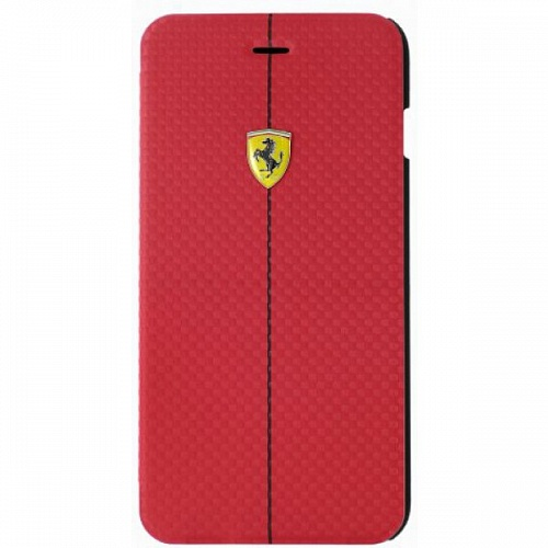 картинка Чехол книжка для Apple iPhone 6S Plus Ferrari Formula One Booktype FEFOCFLBKP6LRE 5 Red от интернет магазина