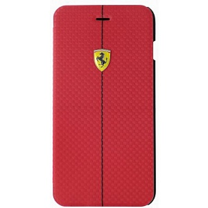 Чехол книжка для Apple iPhone 6S Plus Ferrari Formula One Booktype FEFOCFLBKP6LRE 5 Red