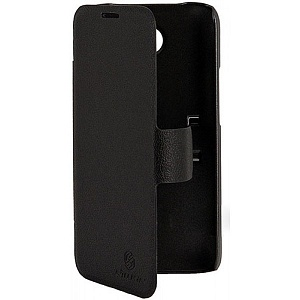 Чехол книжка для Lenovo A820 Nillkin Fresh Series Leather Case черный