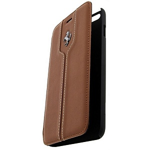 Чехол книжка для Apple iPhone 6S Plus Ferrari Montecarlo Booktype FEMTFLBKP6LKA 6 Camel
