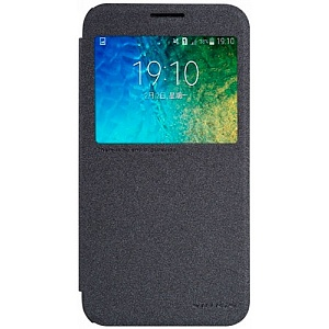 Чехол книжка для Samsung Galaxy E5 SM-E500HD Nillkin Sparkle Leather Case черный