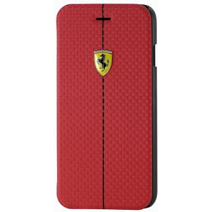 Чехол книжка для Apple iPhone 6S Ferrari Formula One Booktype FEFOCFLBKP6RE 4 Красный