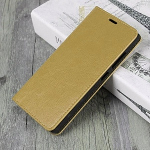 Чехол книжка для Samsung Galaxy A8 Plus (2018) Fashion Case Золотой