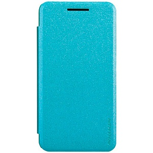 Чехол книжка для Asus ZenFone 5 Nillkin Sparkle Leather Case синий