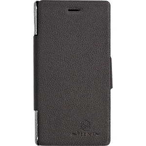 Чехол книжка для HTC One Max Nillkin Fresh Series Leather Case черный