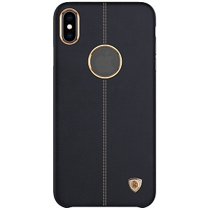 Чехол накладка для Apple iPhone XS Max Nillkin Englon Leather Cover Черный