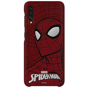 Чехол накладка для Samsung Galaxy A70 Marvel Case Spider-Man GP-FGA705HIARW Красный