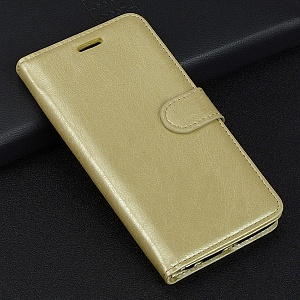 Чехол книжка для Samsung Galaxy A8 Plus (2018) Red Line Book Case Type Золотой