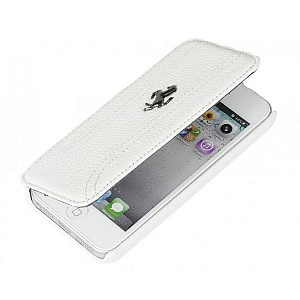 Чехол книжка для Apple iPhone 5C Ferrari FF Collection Booktype FEFFFLBKPMWH 3 White