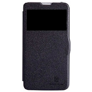 Чехол книжка для LG G Pro Lite Dual D686 Nillkin Sparkle Leather Case черный